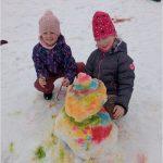 Žabičky malují do sněhu